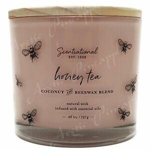 Scentsational-26oz-Coconut-Beewax-Blend-100-Cotton-3-Wick-Candle-Honey-Tea