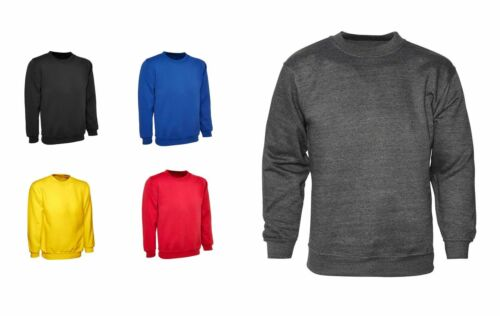Mens Classic Sweatshirts By MIG 100/% PLAIN FRONT /& BACK SWEATSHIRT JUMPER 914