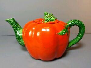 Vintage-Tomato-Tea-Pot-Maruhon-Ware-Hand-Painted-Japan-Teapot