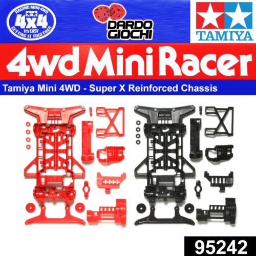 SUPER X REINFORCED CHASSIS SET (RED/BLACK) ITEM 95242