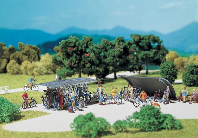 Faller 272535 - 1/160 / N 2 Fahrradständer Mit Fahrräde - Neu