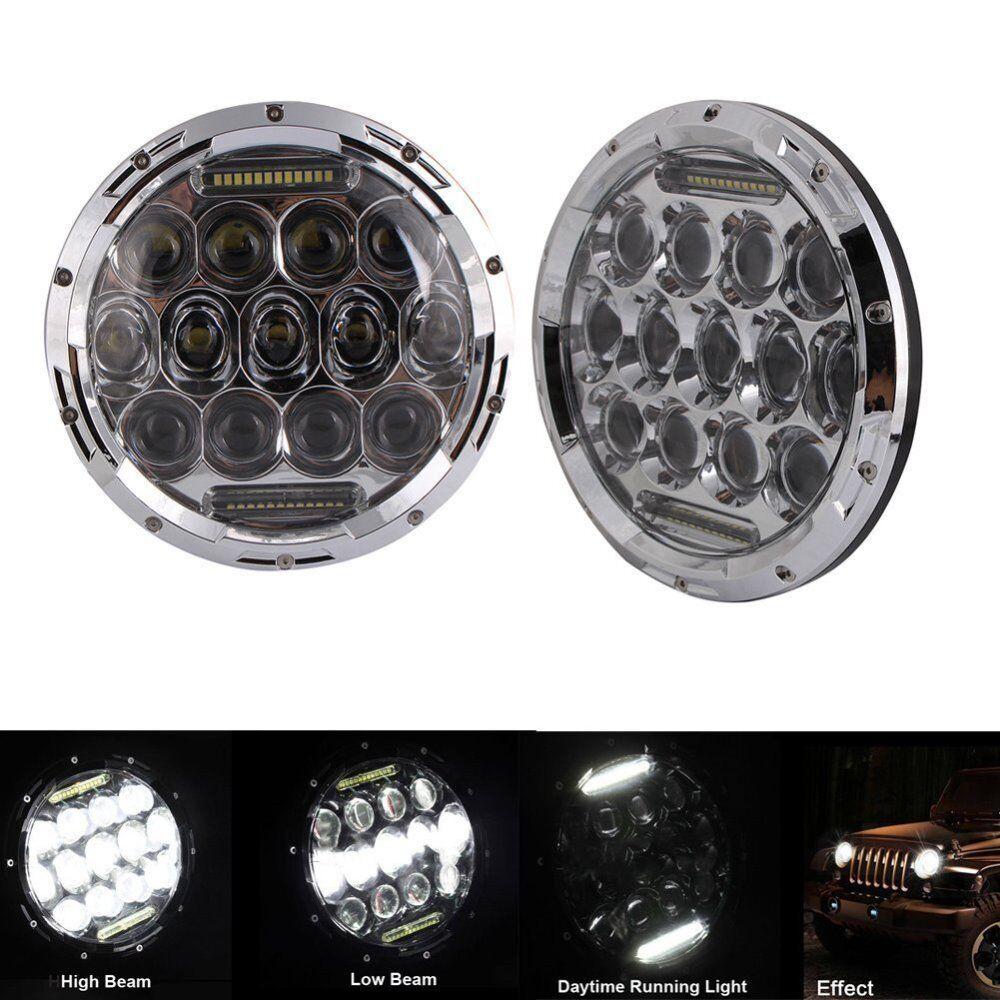 7 inch daymaker drl led headlamp headlights chrome porsche 944 914 kenworth ebay. Black Bedroom Furniture Sets. Home Design Ideas