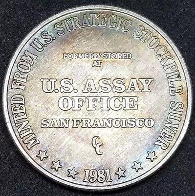 1981-CC US Assay Office San Francisco Strategic Stockpile .999 Fine Silver Round