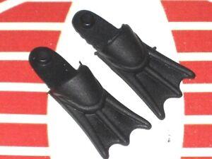 GI Joe Weapon Flippers Dark Green Pair Original Figure Accessory #0327