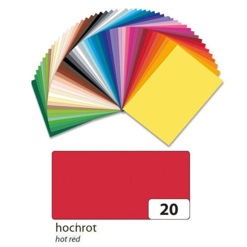 Fotokarton 10er Pack 300g//qm 50x70 cm Hochrot