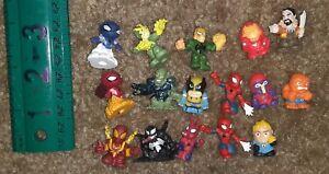 Squinkies Marvel super heroes Spider-Man Lot 16 Squishy Figures X-men Fantastic4
