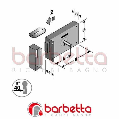 SERRATURA PORTONCINO DA APPLICARE ART.175 OR BONAITI SCATOLA MM.100