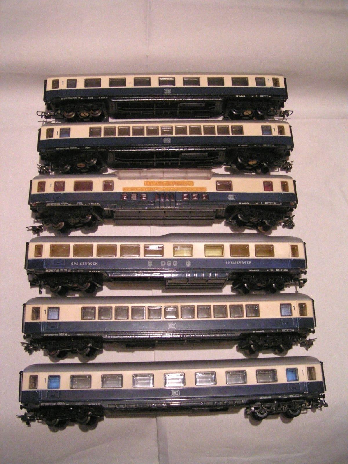 MECCANO   HORNBY AchO 1 87 - 2 rails  -  RAME DE VOITURES RHEINoro (6 PIECES)