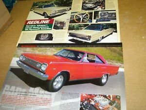 1966 Plymouth Hemi Satellite 2 for 1 magazine article