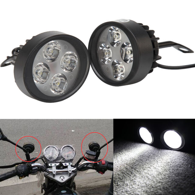 3000LM Car Truck Motorbike Headlight LED Spot Light Driving Fog For Honda Yamaha