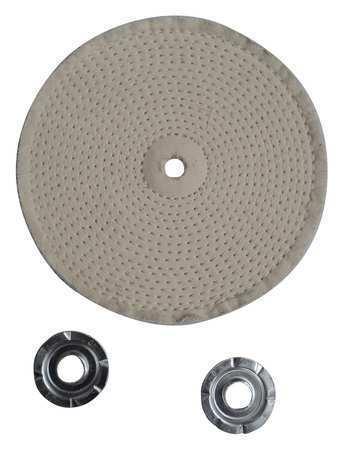 ZORO SELECT 12U083 Buffing Wheel,Spiral Sewn,6 In Dia.