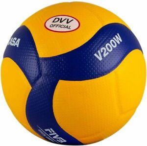 Mikasa v200w-dvv Volley-Ball Jouet hommes taille 5 bleu jaune