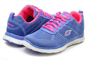 Appeal Foam Size Trainers Uk pink Skechers 12058 3 Periwinkle Memory New Flex xXRXq5f8