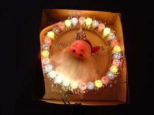 Vintage-Everglow-Santa-Christmas-Tree-Topper-Blinking-lights-ESCO-No-2201-w-Box