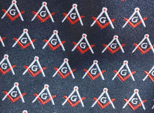 Masonic Craft Masons Silk Tie Square Compass /& G