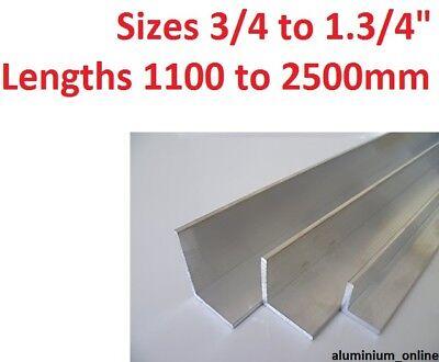 "ALUMINIUM  ANGLE UNEQUAL 3//4 1/"" 1.1//4 1.1//2 1.3//4 inch  L profile select size"