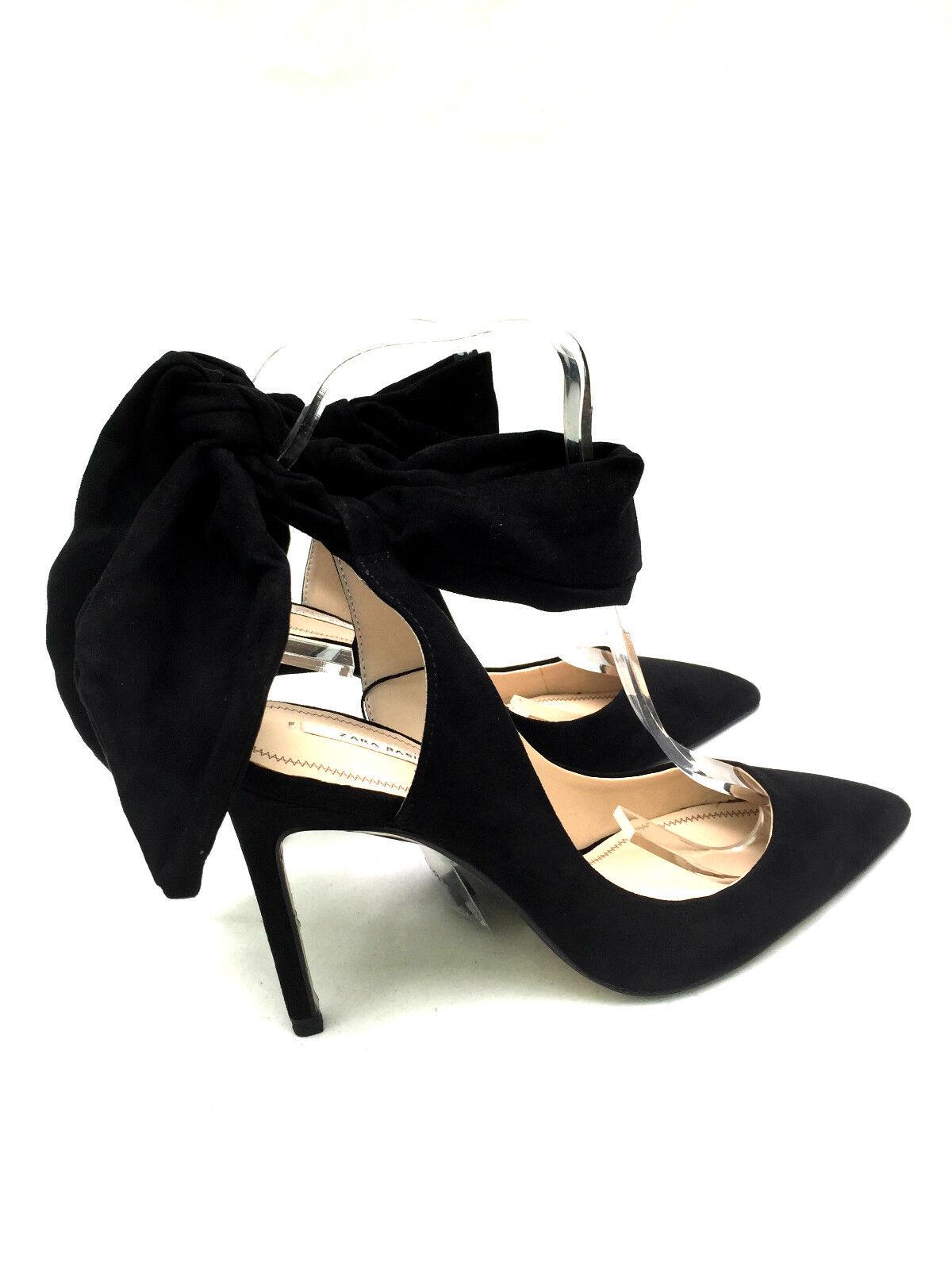 ZARA SLINGBACK HIGH HEEL 37 Schuhe WITH BOW 36 37 HEEL 39 015baa