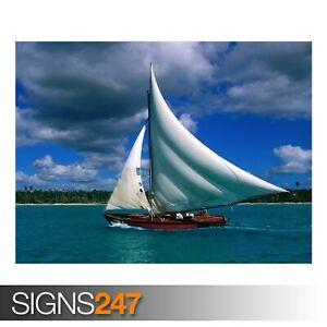 FISHING-SAILBOAT-DOMINICAN-3288-Beach-Poster-Poster-Print-Art-A1-A2-A3-A4