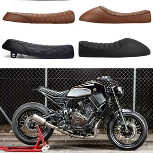 Outstanding Details About Motorcycle Cafe Racer Vintage Seat Flat Hump Saddle For Yamaha Xsr900 Xsr700 Evergreenethics Interior Chair Design Evergreenethicsorg