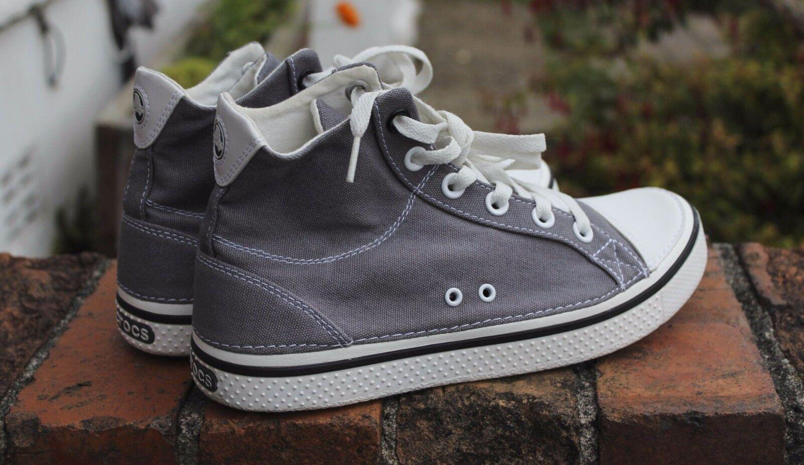 Crocs Hi Top cm grigio Canvas Scarpe da ginnastica Converse Chuck Taylor Stile Grigio -