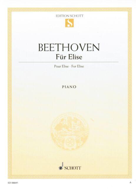 Klavier Noten : BEETHOVEN Für Elise leichte Mittelstufe (Einzelausgabe ED06641)