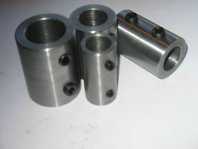 "Steel 5//8/"" // 1//2/"" 1 Pc 2/"" Long Shaft Coupling // Adapter"