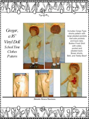 Gregor/'s School Time  Sewing Pattern  ~ Simply Grace Designs