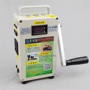 220V Car Emergency start phone Charger portable Hand Crank Generator New