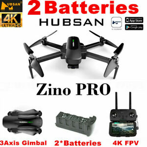 Hubsan Zino PRO APP Foldable Drone 4K FPV 5G Quadcopter W/3Axis Gimbal+2 Battery