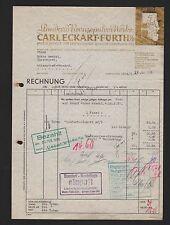 """FÜRTH i. B., Rechnung 1938, Standard-Bronzepulver-Werke Carl Eckart """"Goldeckart"""""""