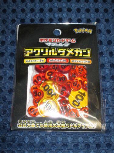 Pokemon Card Sun /& Moon Acrylic Damage Counter Set JAPAN Tag Bolt GX Pikachu F//S