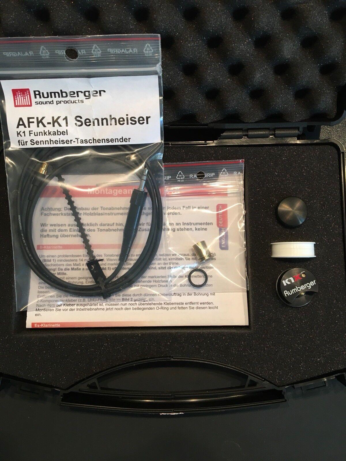 B,A,G Klarinette & Saxofon Rumberger K1X + Sennheiser Neu  2 Jahre Garantie