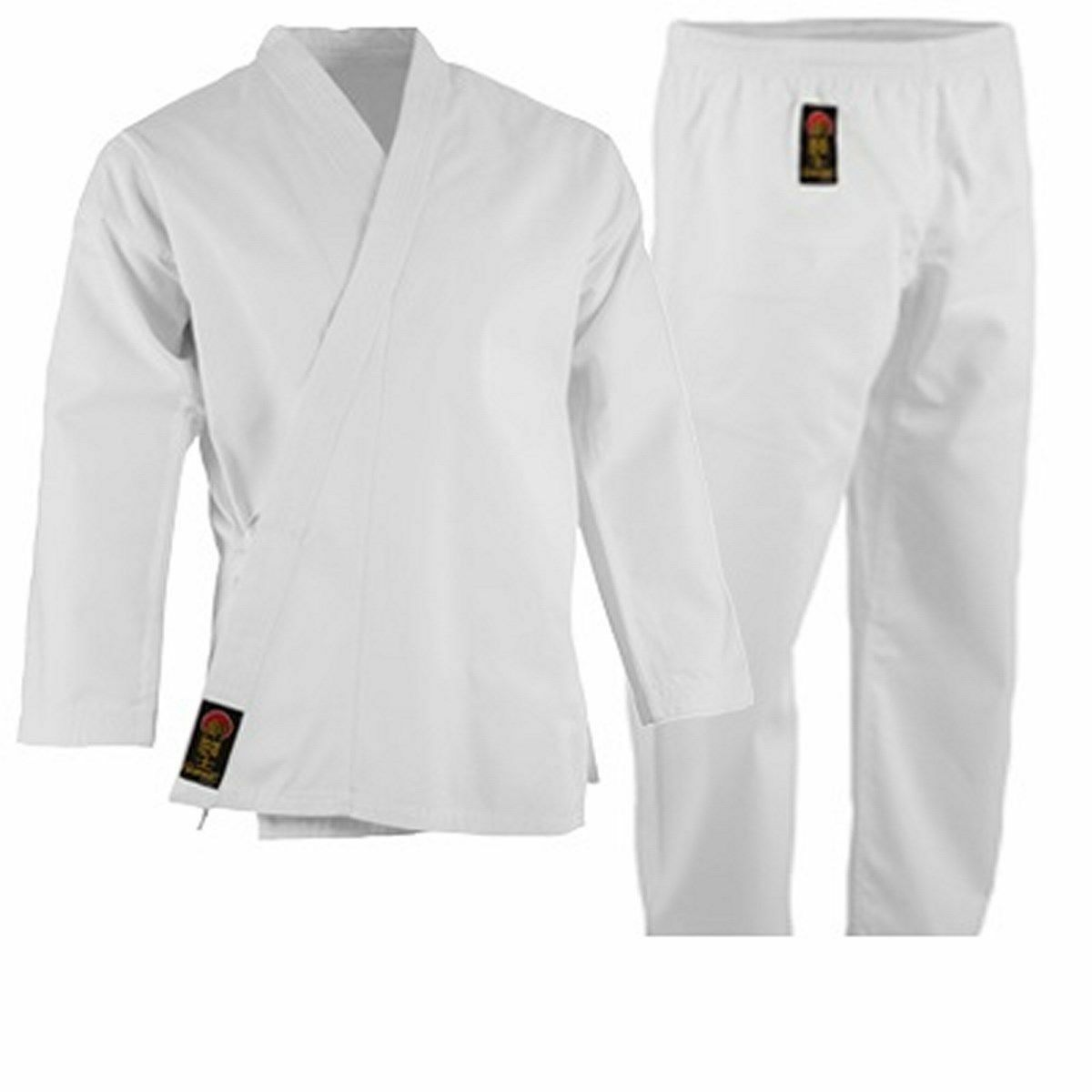 ProForce 7.5 oz. Medium Weight Uniform WHITE For Karate TKD Training FREE BELT
