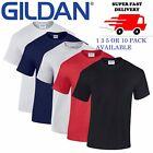 1 3 5 10 Pack Plain Blank Gildan 100% Heavy Cotton T-shirt Multi Colours Lot