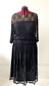 KIYONNA-Luna-Lace-Overlay-Dress-Little-Black-Dress-Holiday-Party-5X-30W-32W-Plus