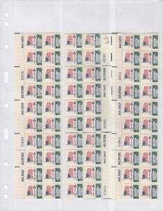 15 Vertical Pages VARIO 3VC CLEAR 3 Pockets For Stamps //Labels //FDC 3 packs Deal