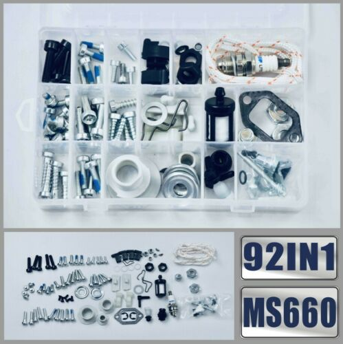 92IN1 Screws Bolts Nuts Clips Chain Tensioner Kit For STIHL MS660 066 MS460 046
