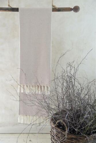 Jeanne d´Arc living Handtuch Gästetuch Badetuch Fransen gewebt Vintage 50x100cm