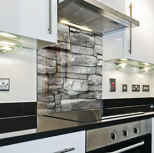 Splashback paraschizzi paraspruzzi rivestimento cucina pietra pattern grigio ebay - Mattonelle rivestimento cucina ...