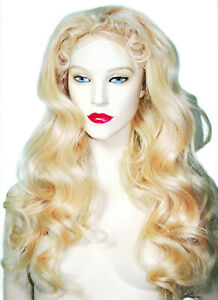 Human-Hair-Lovely-Long-Front-Lace-Wig-613-Remi-Remy-Indian-Wavy-Curly-Blonde
