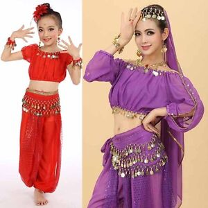 Women-amp-Children-Girl-Belly-Dance-Costumes-Kids-Belly-Dancing-Egypt-Dance-Set