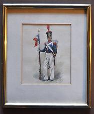 Maurice TOUSSAINT Aquarelle originale signée Grenadier 1831