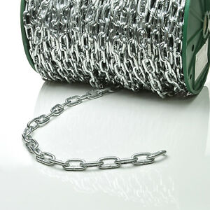 Stahlkette kurzgliedrig 4mm galvanisch verzinkt 5m 70m Rundstahlkette Kette
