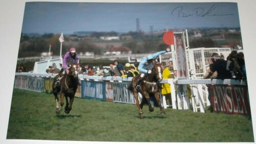 BEN DE HAAN HAND SIGNED 12X8 PHOTO 1983 GRAND NATIONAL CORBIERE
