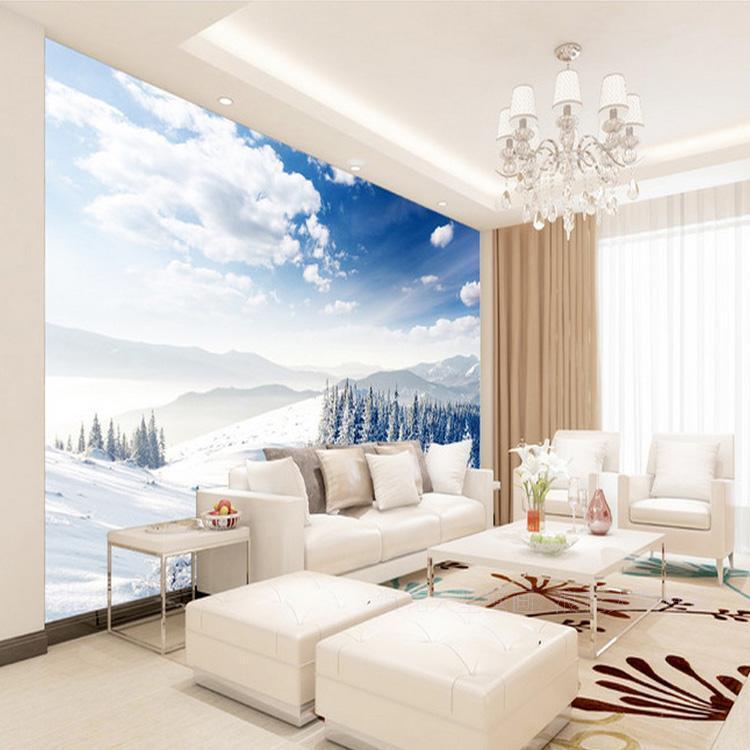 3D Weißer Wolken-Schnee-Wald 8 Tapete Wandgemälde Tapete Tapeten Bild Familie DE  | Up-to-date-styling  | Mittlere Kosten  | Starker Wert