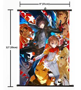 Shin Megami Tensei PERSONA 5   Anime Wall Poster Scroll Cosplay