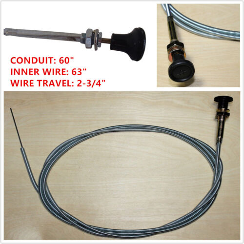 """Lawn Mowers Universal Push Pull Choke Cable 63/"""" Inner 60/"""" Conduit For 237 Rotary"""