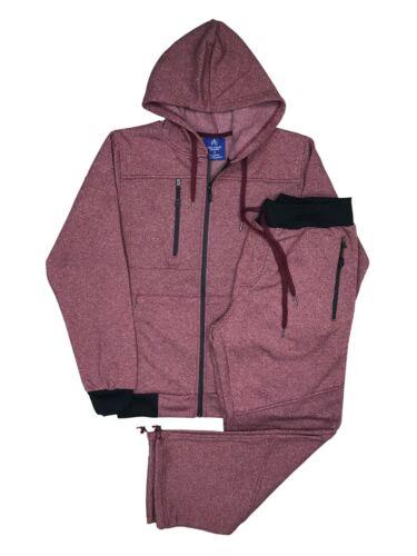 Men/'s Winter Sweat Fleece Jogger Sweatpants Sweatjacket top and bottom set