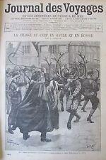 JOURNAL DES VOYAGES N° 864 de 1894 LA CHASSE AUX CERF EN GAULE ET  EN ECOSSE