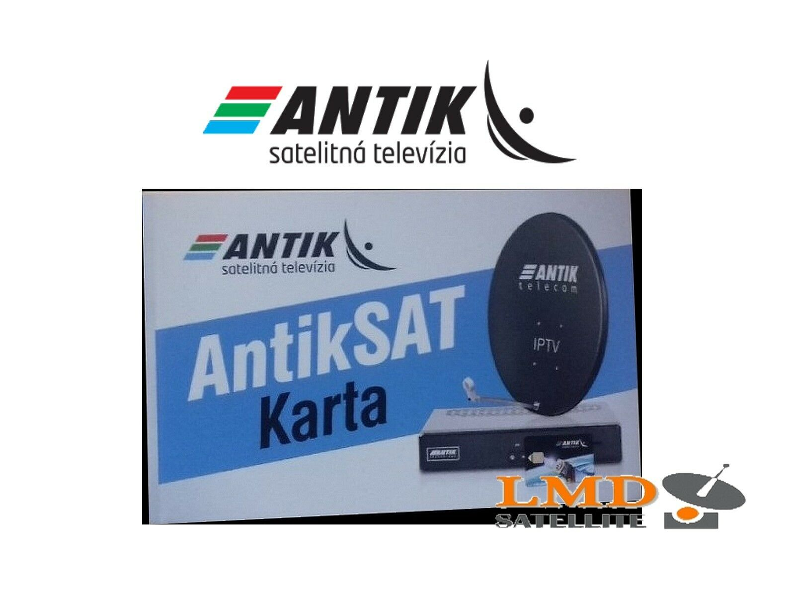 d876e3740 Antiksat Satellite Subscription Card Slovak and Czech TV Channels on ...